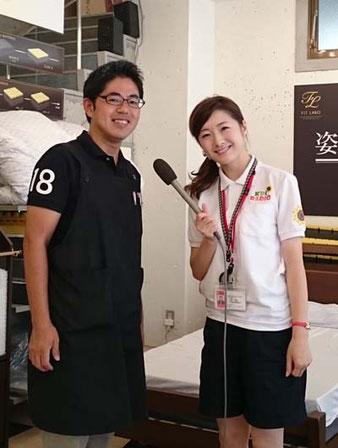KBCラジオ  ひまわり号リポーターの山下さん、村田さん