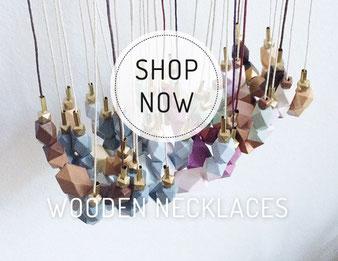 Kette mit Moosachat und gehämmertem Kupfer, hammered necklace with moss agate and copper