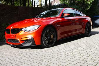 ein BMW M4 in sakhir Orange aus Duisburg hat den Weg zu mir gefunden um eine Versiegelung mit Swizöl zu erhalten.