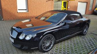Fahrzeugaufbereitung und Lackschutz für den Bentley. Dieser Glanz steht ihm gut.