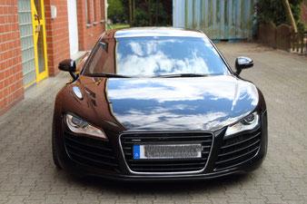 Der Audi R8 aus Gelsenkirchen wurde aufwendig poliert und mit Nanoceramic-Lack-Protect 9H versiegelt