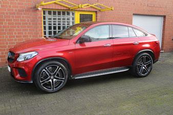 der Mercedes GLE bekam einen einjährigen Lackschutz