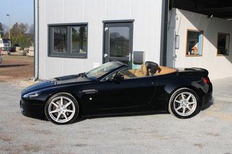 ein schönes Cabriolet, bei dem auch das Verdeck imprägniert wurde. In Reken darf es wioeder regnen