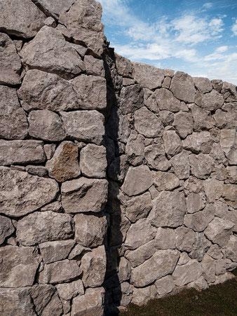 クリックで練り石積みの施工例
