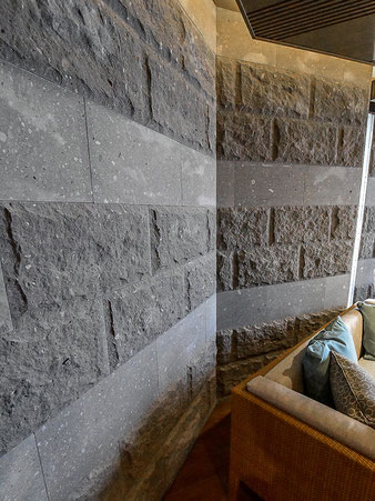 クリックで壁石張りの施工例