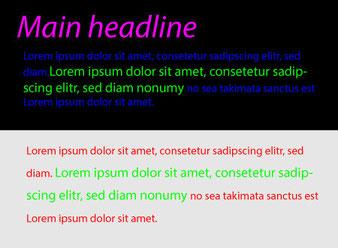 Пример неудачной цветовой гаммы сайта