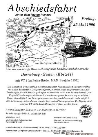Flyer Abschiedsfahrt auf der Ambergaubahn