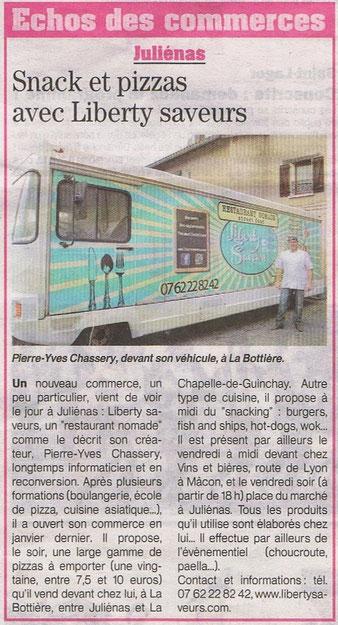 Liberty Saveurs food truck Mâcon. Food truck Crêches sur Saône. Food Truck Belleville sur Saône. food truck boeuf bourguignon et autres plats traditionnels