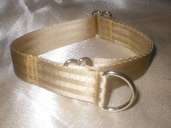Zugstopp, Halsband, 2,5cm, Gurtband champagnerfarben