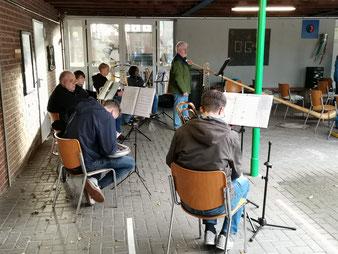 Low Brass Connection und ich mit Alphorn