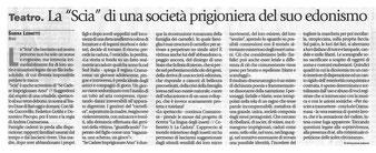 """5 Marzo 2016 - Sabina Leonetti su """"Avvenire""""."""
