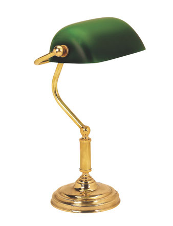 デスクランプ バンカーズ ランプ 照明 おしゃれ イタリア製 スティラーズ 真鍮 ブラス アンティーク グリーンシェード 雑貨 照明器具 クラシック STILARS