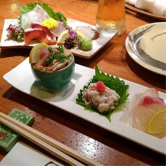 磯くら 炉端焼き 山口市 湯田温泉 ミニコース 前菜 お造り