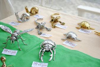 北欧雑貨 昆虫 オブジェ 真鍮 シルバー 雑貨
