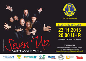 Plakat Lions Club Sulinger Land Benefiz Seven Up