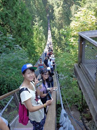 キャピラノ吊橋を体験!