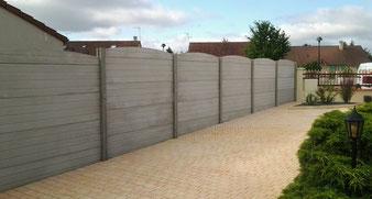clôture béton aspect bois, Priou et Fils, 41700 Contres, Blois, Loir et Cher