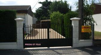 portail aluminium, portail coulissant aluminium, Priou et Fils, 41700 Contres, Blois, Loir et Cher