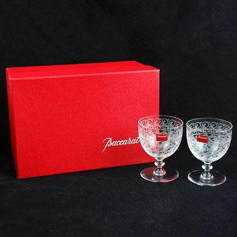 Baccarat/バカラ◆ローハン ワイングラス2点セット ペア◆冷酒 アンティーク