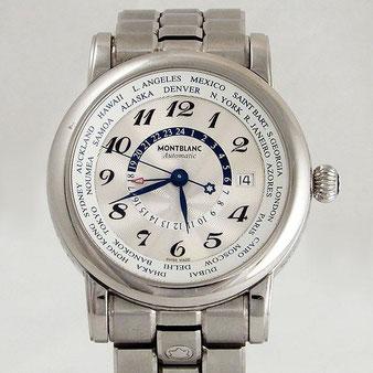 モンブラン/MONTBLANC◆腕時計 スターワールドタイム GMT 7203-PL