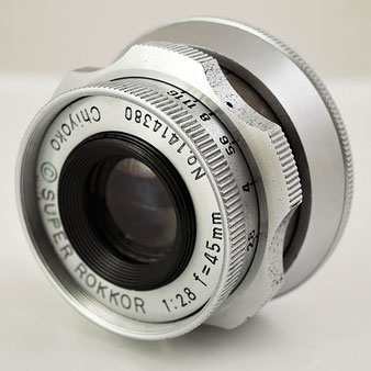 スーパーロッコール SUPER ROKKOR Chiyoko 1:2.8 f=45mm