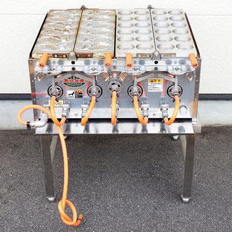 光陽機械◆饅頭焼機 大判 12穴 たい焼き 6個 LPガス◆台付き