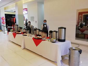 Estacion de Cafe, Meseros, Coffe Brak Medellin, Estacion de Cafe alquiler Medellin