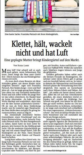 Kindergürtel Sächsische Zeitung