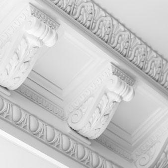 Pilaster und Zierleisten, Stuckleisten