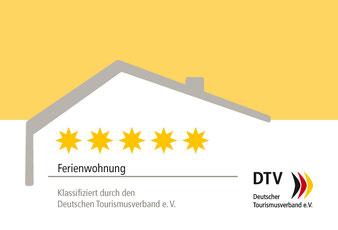 5 Sterne Ferienwohnung, klassifiziert durch den Deutschen Tourismusverband