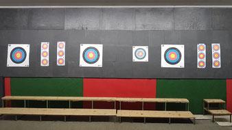 BSC Arcus Guntramsdorf Bogensporthalle Wand Targets