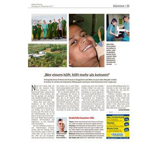 Kleine Zeitung, Kärnten - 24.12.2017