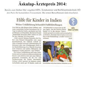 OÖN Äskulap-Ärztepreis 2014