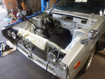 GC110ケンメリ エンジンルーム塗装