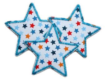 Bild: Stern Sternchen bunt Aufnäher Flicken Aufbügler Bügelbild