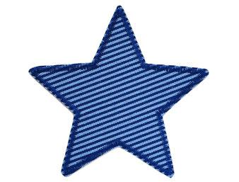 Stern Jeansflicken blau Flicken zum aufbügeln für Kinder Patch