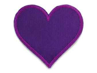 Bild: Cordflicken Herz lila Hosenflicken Applikation für Mädchen