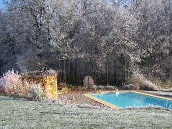 Unter dem Frost des Dezembers