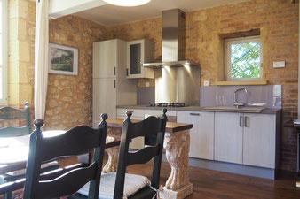 De keuken / eetkamer