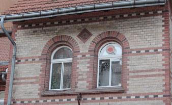 """""""Atomkraft Nein Danke"""", ehemaliges Landhaus von Günter Grass in Friedenau. Foto: Helga Karl"""