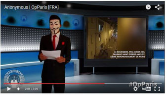 """Originalvideo"" Anonymous Frankreich. Screenshot Helga Karl 17.11.2015"