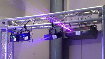 照明・レーザー展示会の様子
