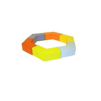 Kit hexagone en mousse enfants Sarneige. Kit Héxagone, matériel de modules en kit et en mousse enfants Sarneige à acheter pas cher.