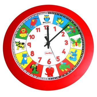 Horloge d'apprentissage pour éduquer les enfants à l'heure de l'horloge.