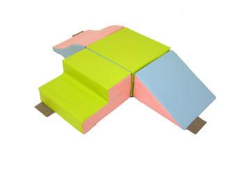 Kit escalade en mousse enfants. Matériel de modules en kit et en mousse enfants Sarneige à acheter pas cher.