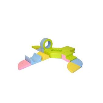 Kit complet hexagonal 10 Sarneige en mousse enfants. Kit en ensemble complet hexagonal, matériel de modules en kit et en mousse enfants Sarneige à acheter pas cher.