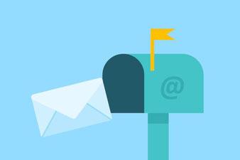 Briefkasten und Brief
