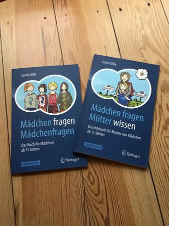 nils-schroeder,niels-schröder,niels-schroeder - Cover-Illustrationen für den Heidelberger Springer-Verlag für die Bücher Mädchen-fragen-Mädchenfragen und Mädchen-fragen-Mütter-wissen