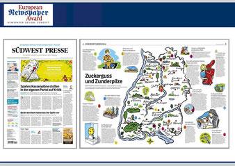 Niels Schröder erhielt dieses Jahr für Zeichnungen, die er für die Südwest Presse angefertigt hat, den jährlich vergebenen European Newspaper Award.
