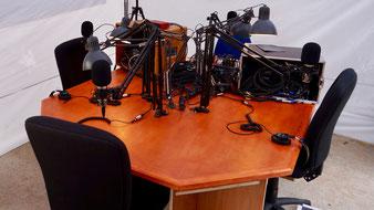 la forme actuelle du studio de La Radio Itinérante